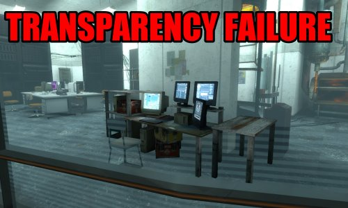 Transparency failure
